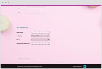 Umfrage-Vorlage: Online-Bestellformular