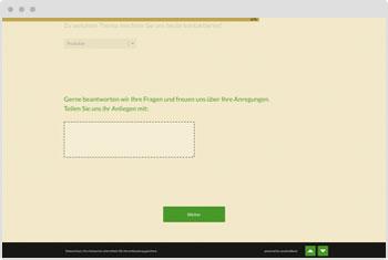 Umfrage-Vorlage: Online-Kontaktformular