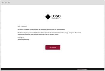 Umfrage-Vorlage: Visitenkartendaten aktualisieren