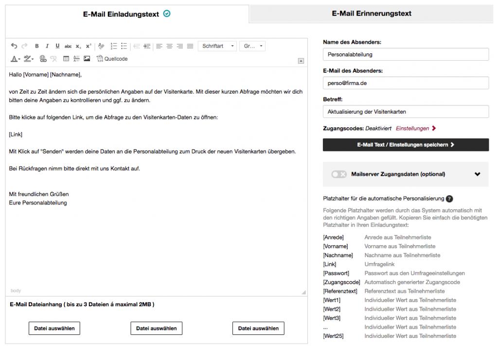 Email Einladung Beispiel