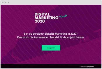 Quiz Vorlage Digitale Marketingtrends