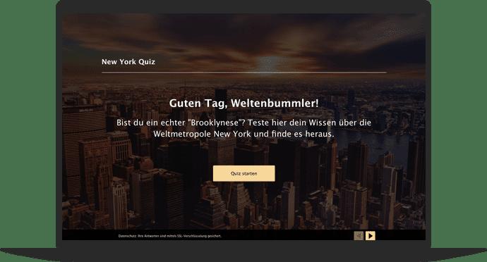 Städtequiz Quiz-Vorlage