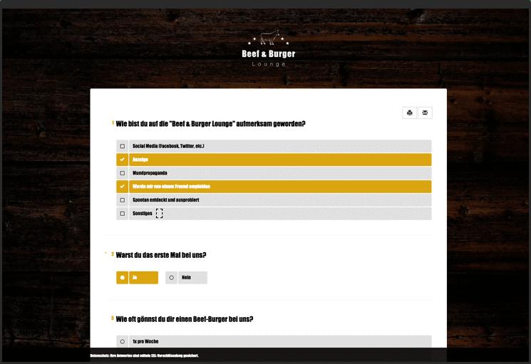 Umfragetool - Ergebnisse am Ende einer Umfrage darstellen