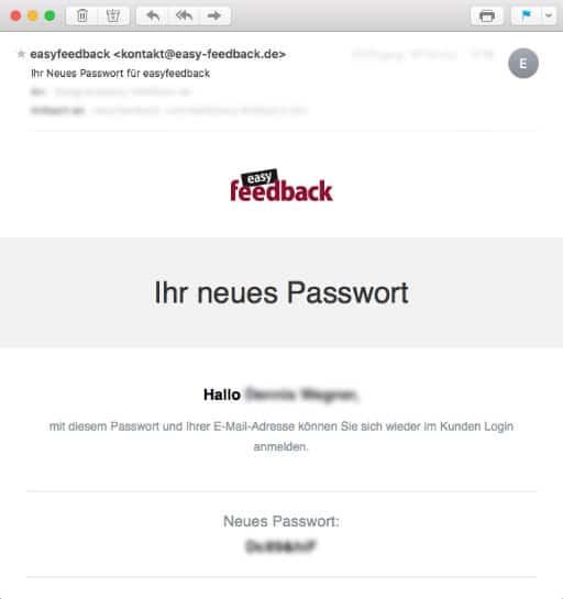 Ihr neues Passwort